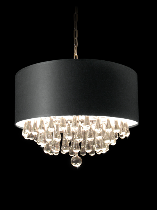 Terrific Chandelier Black Shade Crystal Drops Photos - Chandelier ...