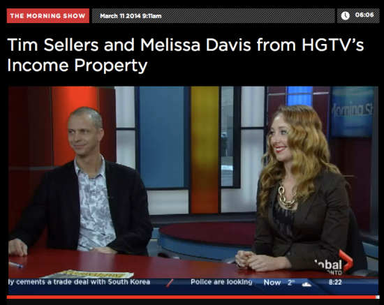 Melissa Davis Tim Sellers Global TV